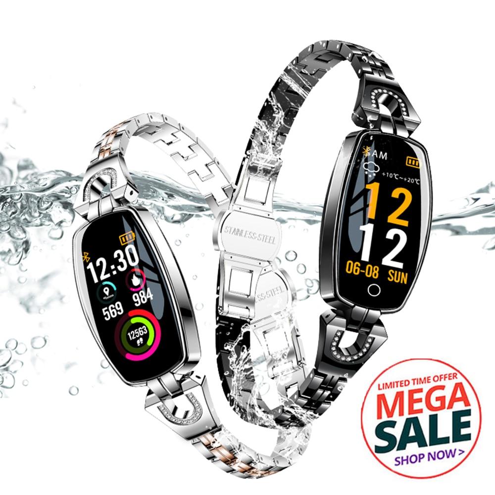 H8 reloj inteligente con pantalla táctil pulsera señora mujer Monitor de ritmo cardíaco durante el sueño banda inteligente presión arterial deportes SmartBand
