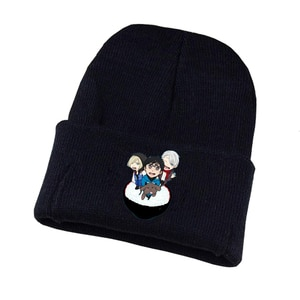 Anime Yuri!!! on Ice Knitted Hat Cosplay Hat Unisex Print Adult Casual Cotton Hat Teenagers Winter Knitted Cap