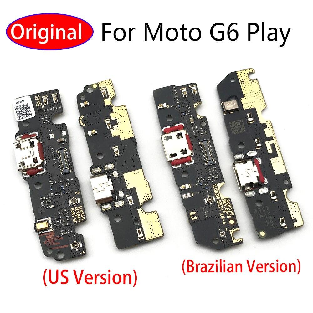 50 قطعة/الوحدة ، جديد ل موتورولا موتو G6 اللعب G9 زائد USB شاحن ميناء الشحن قفص الاتهام موصل الكابلات المرنة مجلس استبدال جزء