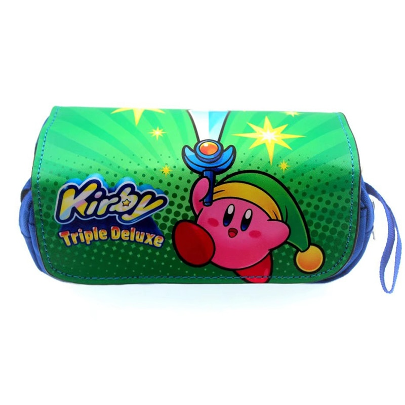Чехол для карандашей в стиле аниме Kirby, вместительный студенческий чехол для карандашей, Пикачу, детский чехол для карандашей, школьные прин... чехол