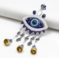 home furnishing blue eyes pendants metal wind chime pendants blue eyes home accessories car decoration