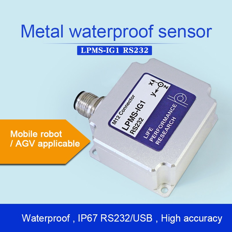 LPMS-IG1 RS232 Metal Housing Sensor de Actitud/giroscopio/IMU módulo de medición inercial