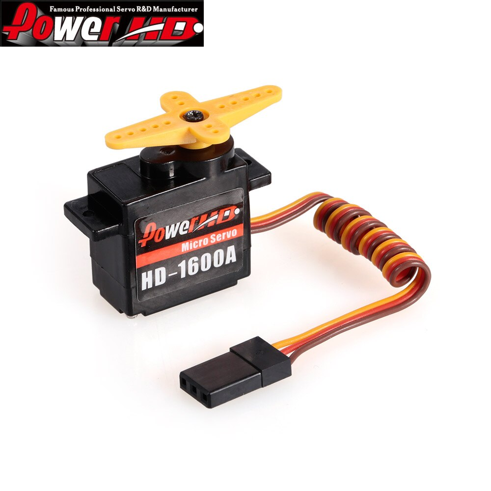 4 juegos/lote 100% potencia original HD HD-1600A microservo analógico Mini 1,3 kg/6g (Compatible con FUTABA /JR)