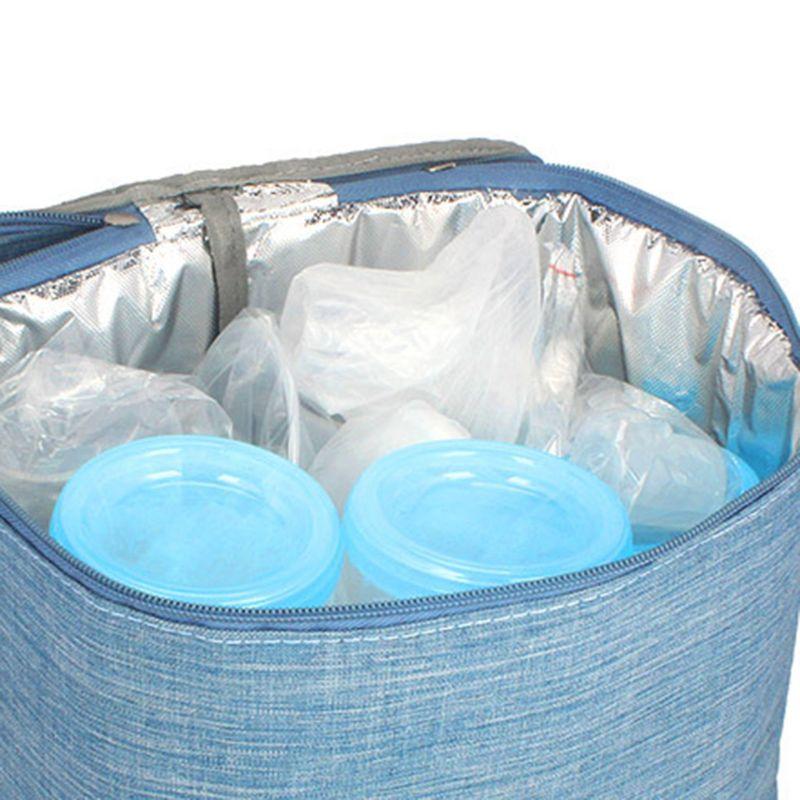 Mummy Breastmilk Cooler Bag Portable Baby Bottles Bag Thermal Insulation Bags K1KC