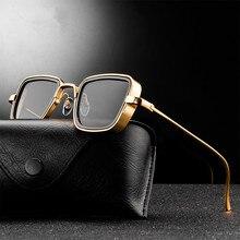 Lunettes de soleil UV400, carrées rétro pour hommes et femmes, marque de luxe, style styliste, Steampunk, rouge et noir