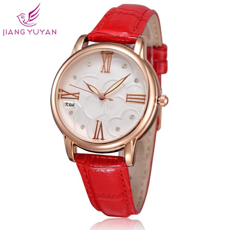 Listagem de Luxo Dia dos Namorados Nova Moda Feminina Vere Diamante Relógio Couro Senhoras Simples Presente Feminino 2021