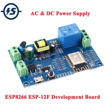 Esp8266 ESP-12F 릴레이 모듈 ac 220 v dc 12 v wifi 릴레이 스위치 ESP-12F 원격 제어 스마트 홈