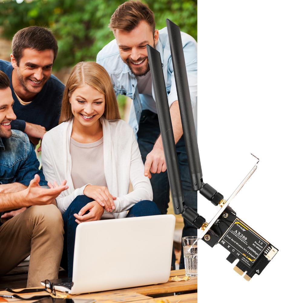 Adaptateur de bureau sans fil PCIe WiFi Intel 9260 Intel Bluetooth Windows 802.11ac/ax 10 Wifi6 5.0 AX200 2.4G/5G MU-MIMO O7C5