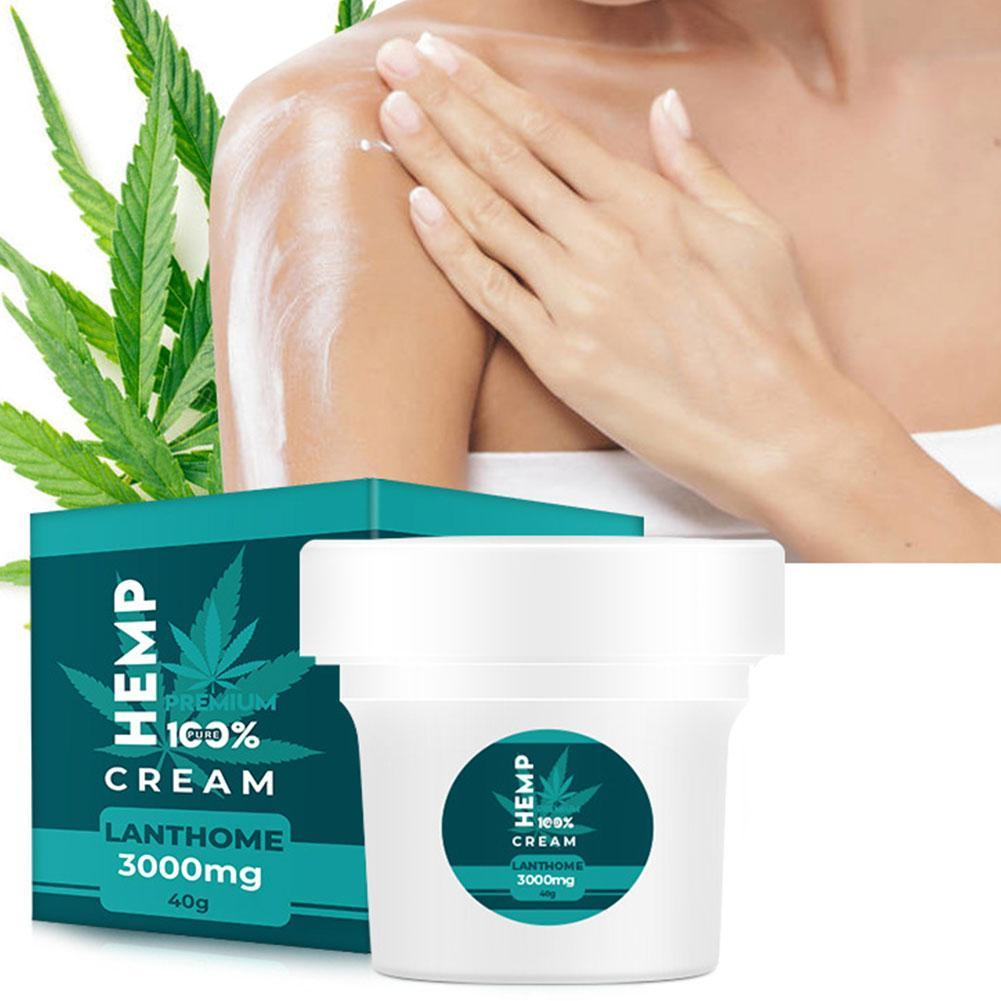 Lanthome New Hemp Seeds Oil Facial Nourishing Cream Moisturizer Collagen Whitening Lighten Fine Lines Firming Skin Care Cream