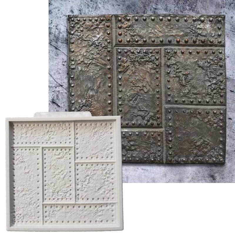 Molde de placa de Metal remachado, molde de silicona, herramienta de decoración de pasteles Fondant, pasta de azúcar, formas de Chocolate, utensilios para hornear