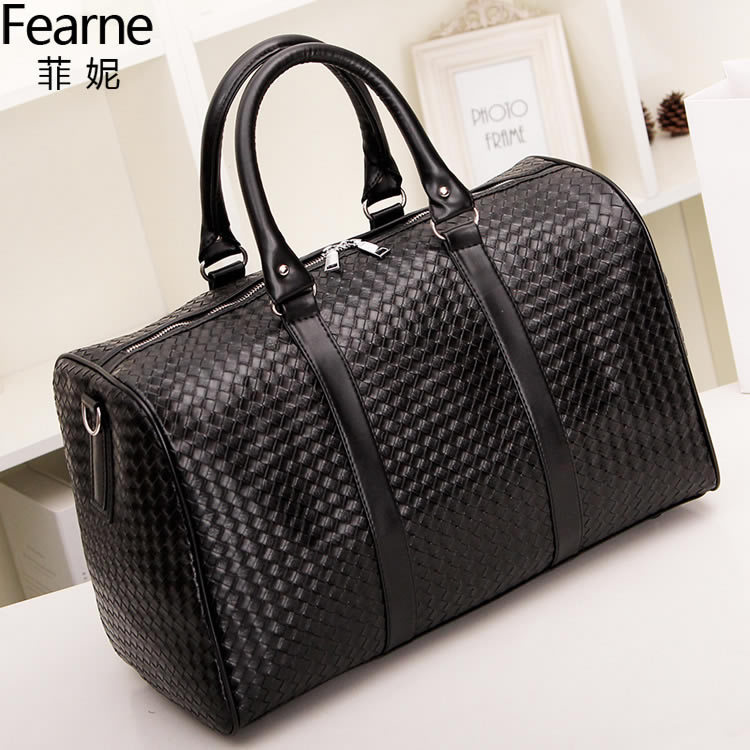 New Braided Laptop Bag Mass Men Shoulder Bag Travel Bag Black Business chu cha bao