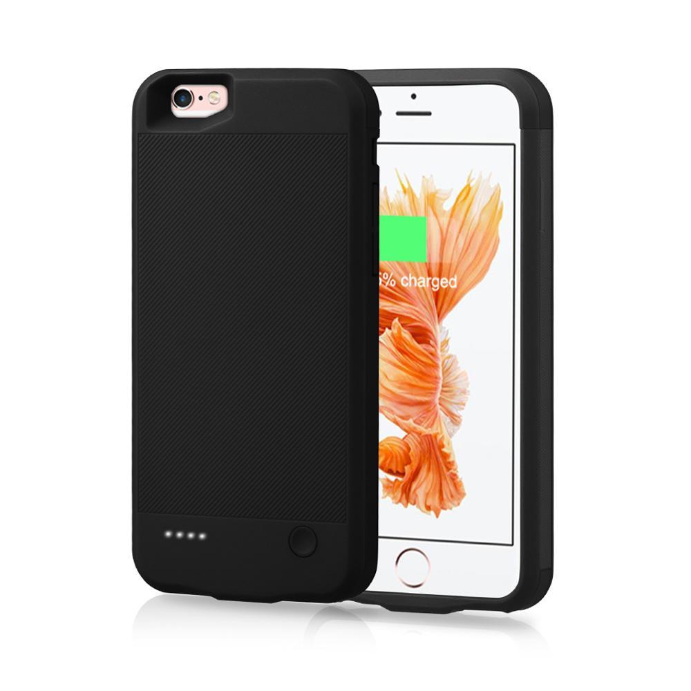 Para iPhone 6 6s 7 8 funda de cargador de batería 2800mAh cubierta de carga externa del Banco de energía para iPhone 6 6S 7 8 funda de batería