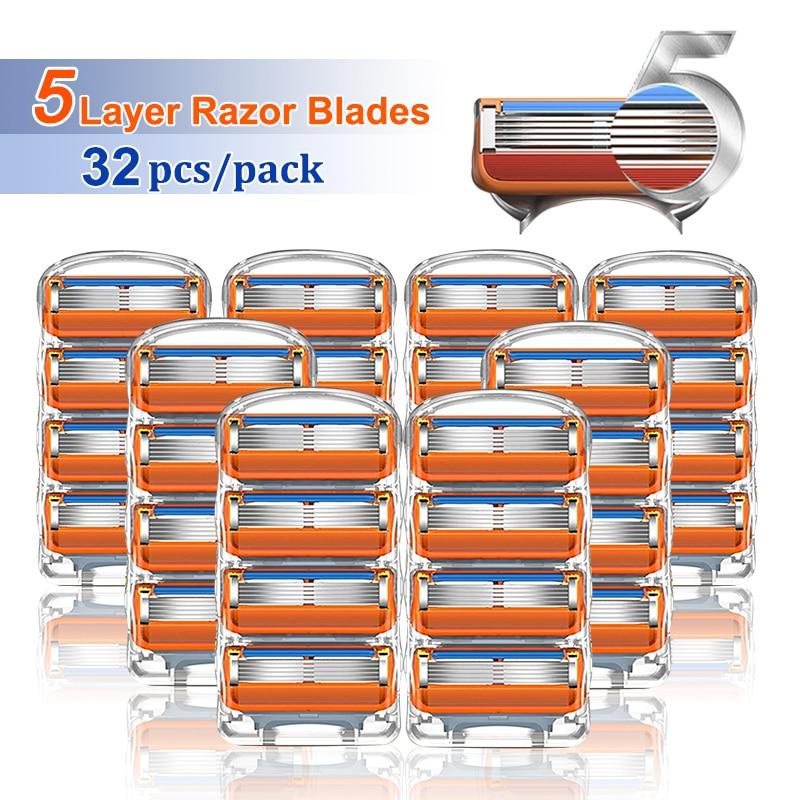 Razor Blades Shaving Cassettes For Gillette Fusion 5 Shaver Case For Men Replaceable Razor Heads Sha