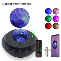colorful starry sky projector bluetooth compatible usb voice control music player led night light romantic projection lamp gifts