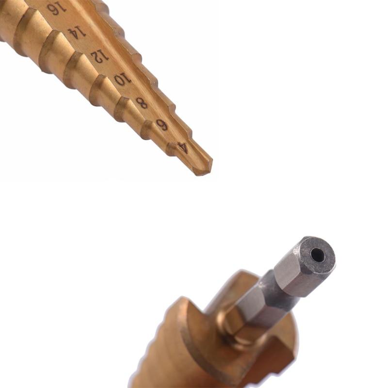 3 pezzi punte da trapano in acciaio HSS titanio 3-12mm 4-12mm 4-20mm, - Punta da trapano - Fotografia 3