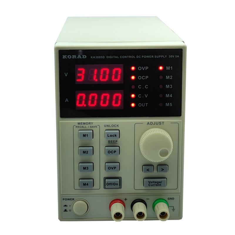 KA3005D الدقة قابل للتعديل الرقمية للبرمجة تيار مستمر امدادات الطاقة مختبر امدادات الطاقة 30 فولت 5A خدمة مختبر 0.01 فولت 0.001A