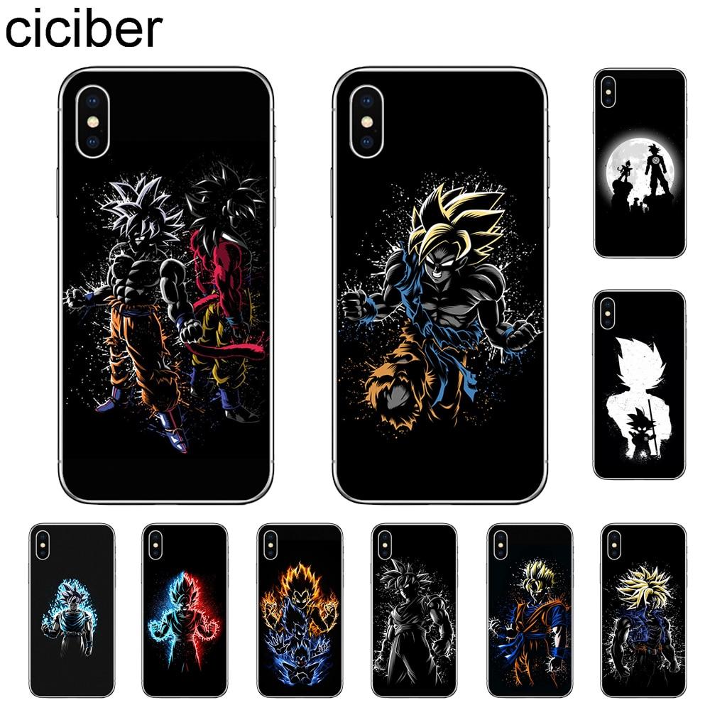 Funda de teléfono ciciber Dragon Ball Z Super DBZ Goku para Apple iPhone 11 Pro Max X XR XS MAX 7 8 6 6s Plus 5 5S SE, funda de TPU suave