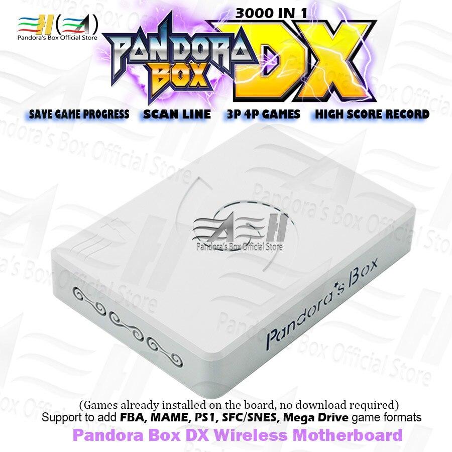 Nueva placa base inalámbrica Pandora Box DX 3000 en 1, compatible con mandos de juegos USB, con juego 3P 4P, ahorro de juego, registro de puntuación alta en 3D