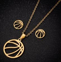 Hfarich для мужчин и женщин нержавеющая сталь Баскетбол Спорт фитнес-ожерелья Баскетбол ювелирный подарок для возлюбленных воротник аксессуары Mujer