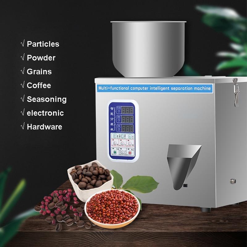 100G ذكي مسحوق الكمية ماكينة حشو الجسيمات الفرعية آلة الحبوب الطب الفاكهة عبوات البذور حشو