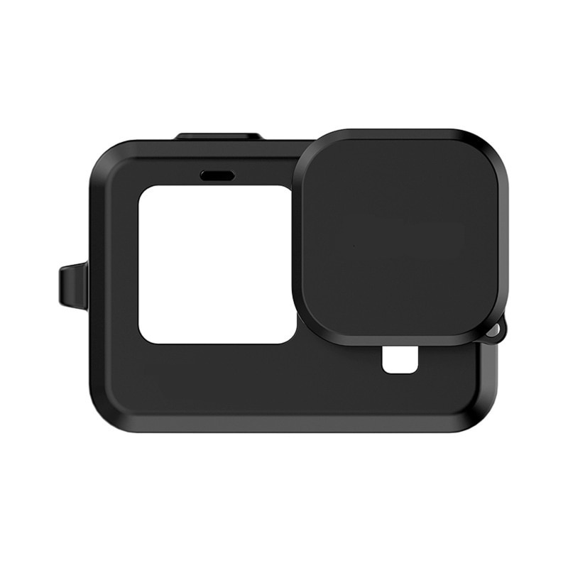 Protective Shell With Silicone Lens Cover For Go pro Hero 9 Black Sports Camera