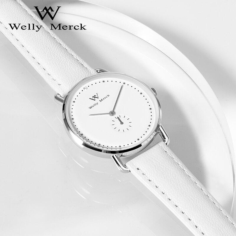 Welly Merck Swiss Quartz Wristwatches Stainless Steel Case Women's Watch 5ATM Waterproof Ladies Watch Relogio Feminino enlarge