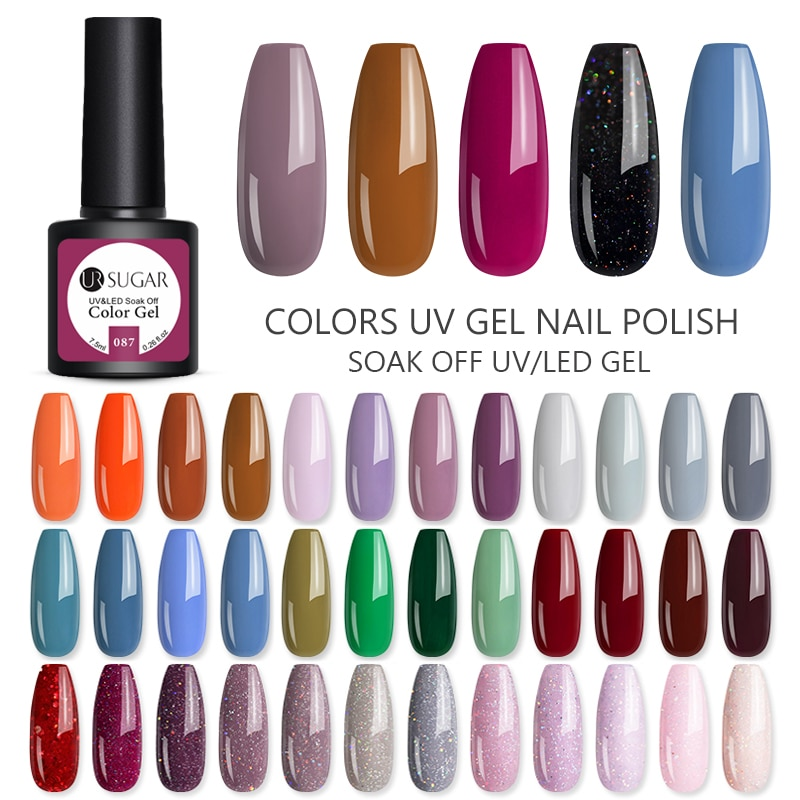 Azúcar UR juego de uñas de Gel polaco Gel LED UV barniz para el diseño de los dedos Soak Off Gel de laca de larga duración Gel manicura uñas herramientas
