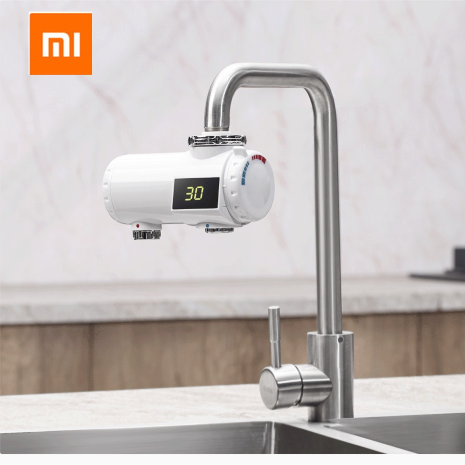 Xiaomi Xiaoda, grifo de calefacción instantánea, calentador de agua eléctrico de cocina, 30-50 grados, grifo ajustable de temperatura fría y cálida de 220V