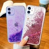case for iphone 12 11 pro max se 2020 mini cases on iphone xr x xs max 7 8 6 6s plus cover liquid quicksand covers bumper fundas
