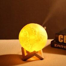 Grande capacité batterie lampe lunaire humidificateur USB humidificateur Maison 3D créativité