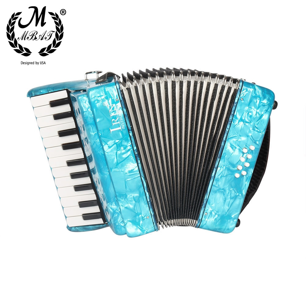 M MBAT 22-Key 8 Bass Accordion Multi-color Keyboard Instrument Roll Up Piano for party With Music Accessories Set Christmas Gift enlarge