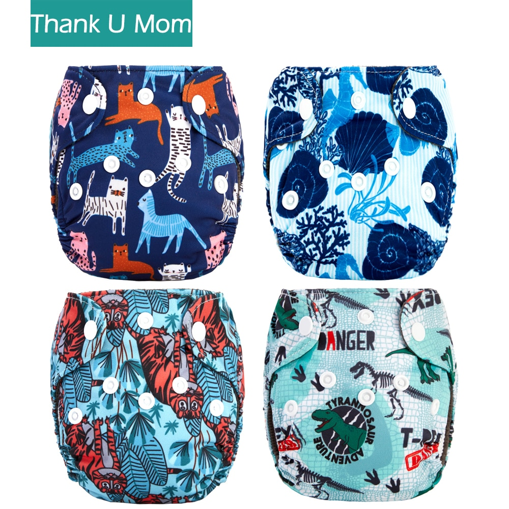 super soft minky printed baby one size pocket diaper with double leg gusset breathable diaper nappies with bamboo charcoal inner 4Pcs Newborn Pocket Cloth Diaper NB Premature Baby Diapers Nappy Charcoal Bamboo Lining Waterproof Minky PUL Outer Fit 2-4kg
