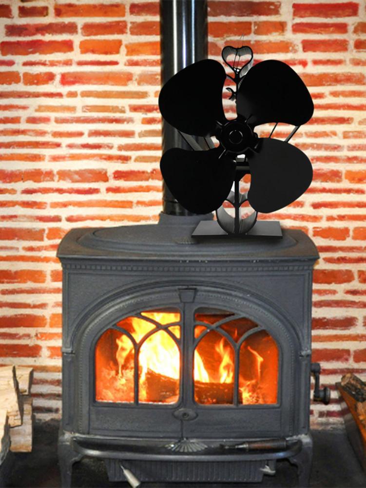 Ventilador de chimenea de energía caliente soplador de estufa respetuosa con el medio ambiente ventilador de energía térmica sin batería ventilador de horno