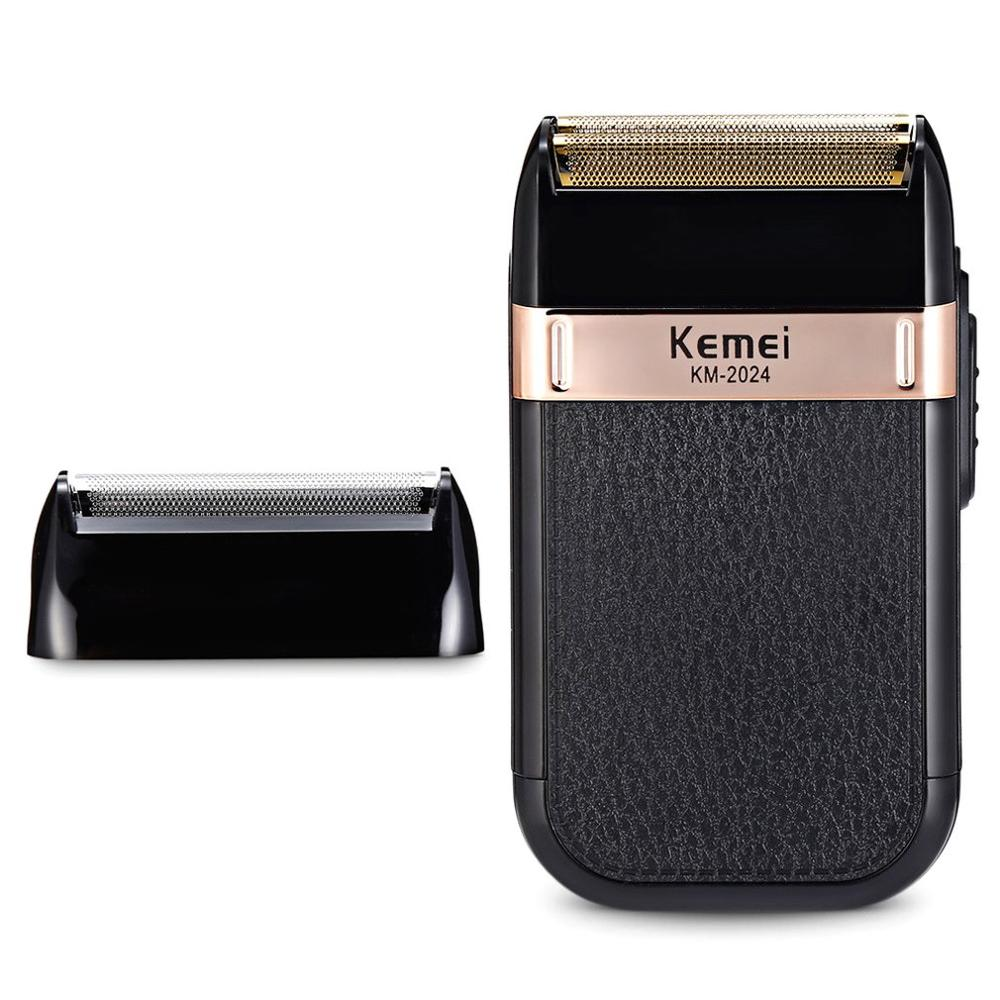 Afeitadora eléctrica Kemei, afeitadora de seguridad de doble filo, afeitadora clásica para hombre, Afeitadora eléctrica recargable para Barba, afeitadora de doble uso en seco