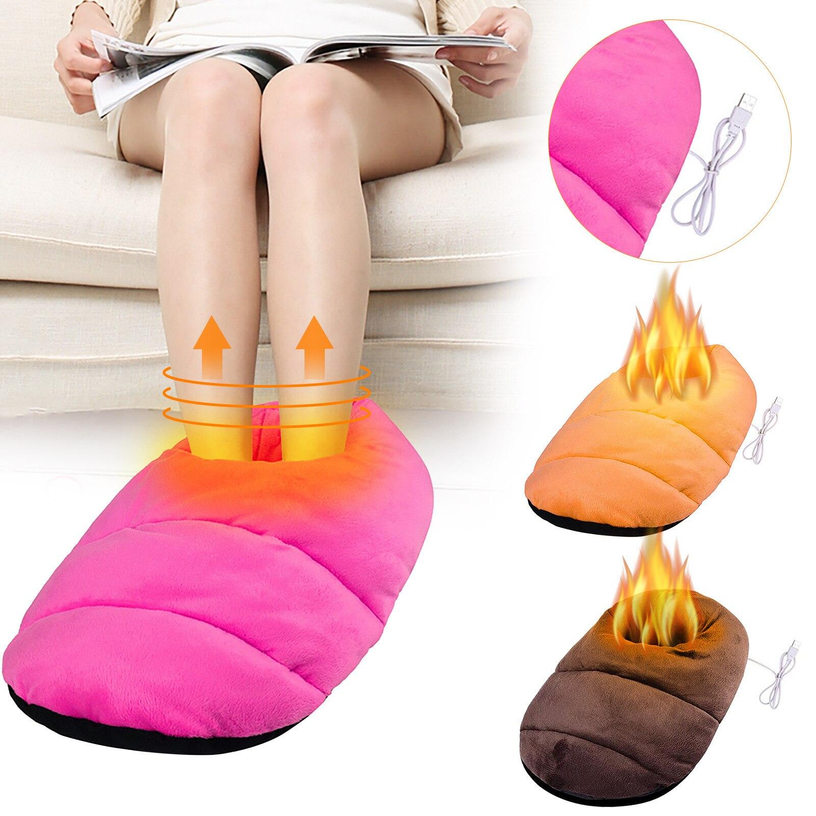 Calentador de pies eléctrico con USB, dispositivo de calefacción para invierno