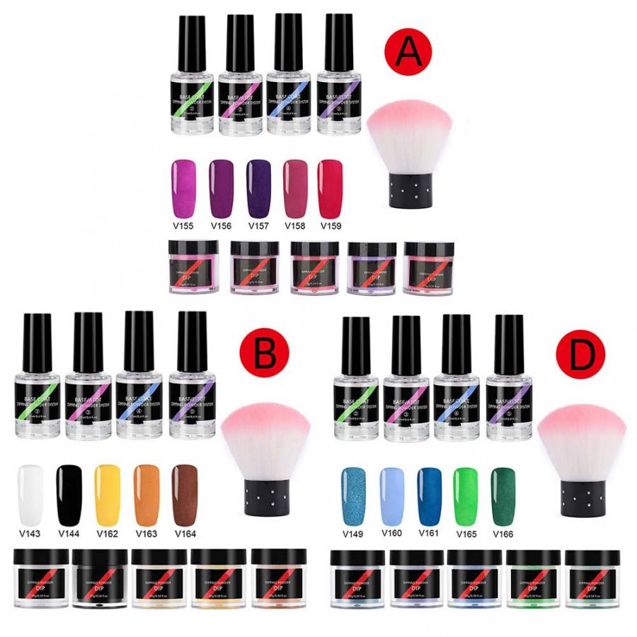 Arte de uñas de acrílico en polvo de uñas de Gel de inmersión polvo de uñas decoración arte manicura Kit