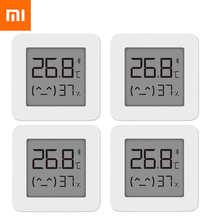 4 шт. Xiaomi Mijia термометр 2 Bluetooth-совместимый датчик температуры и влажности для умного дома с ЖК-экраном цифровой датчик влажности