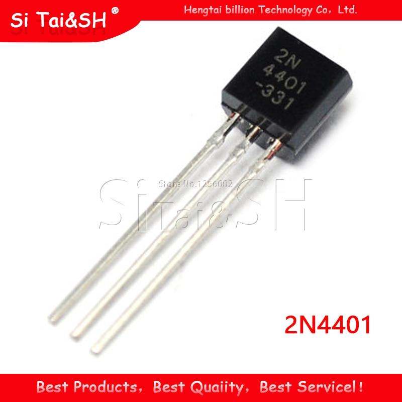 100 sztuk 2N4401 TO92 TO-92 4401 tranzystor trioda TO92-2N4401