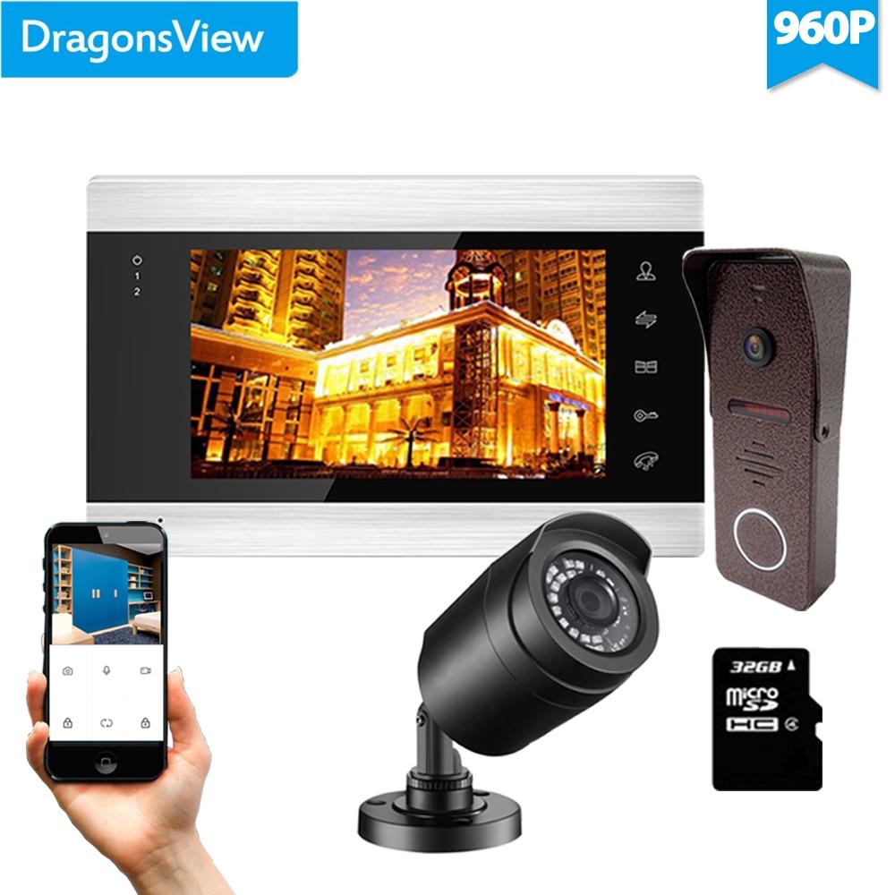 Dragonsview 960P Wifi  Door Access Control Video Door Phone Intercom System HD Doorbell With CCTV Camera Motion Detection APP enlarge