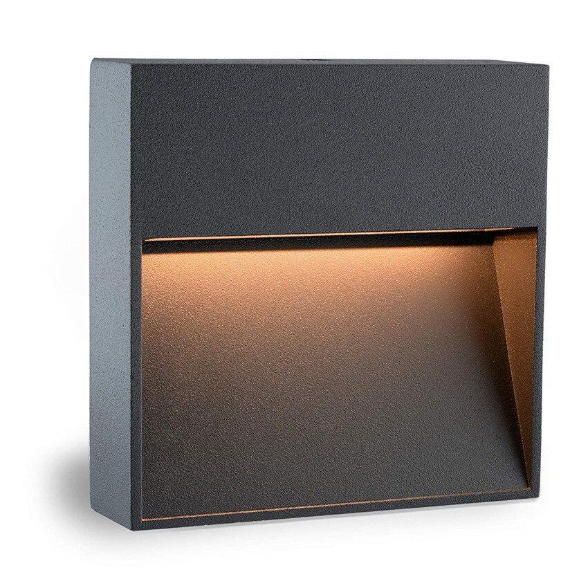 Luz da escada led luzes passo montagem em superfície luz de canto footlight interior ao ar livre à prova dwaterproof água escada lâmpada passo AC85-265V fr56