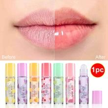 Roller Ball cristal rouge à lèvres hydratant sans couleur Fruit brillant à lèvres nutritif durable brillant huile pour les lèvres Essence fleurs teinte pour les lèvres