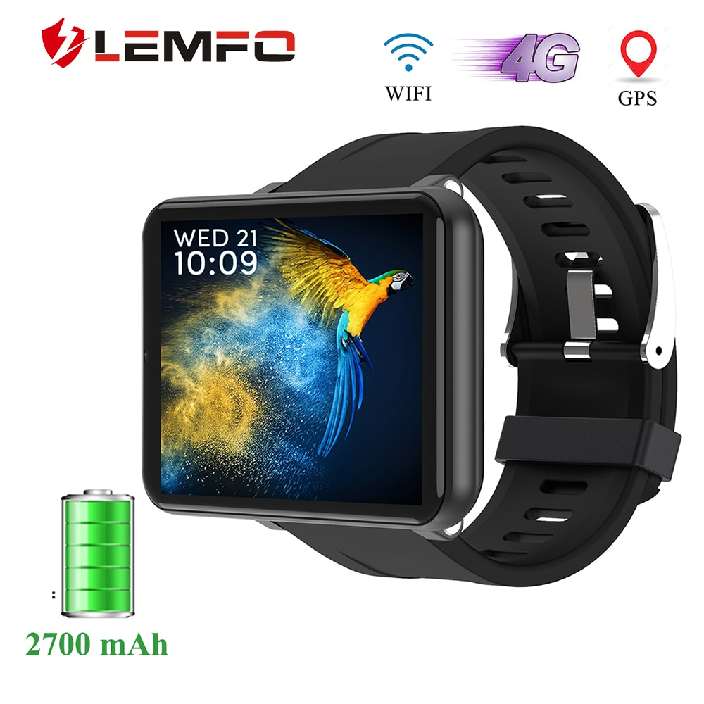 LEMFO 4G Smart Uhr Android 7.1 2,8 Zoll 640*480 Bildschirm 3GB + 32GB GPS WIFI 2700mah Große Batterie Smartwatch Männer