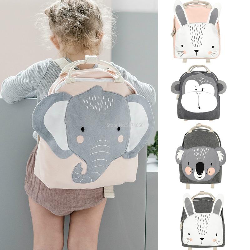 Children Backpack Animals Design Girl Boys Backpack Toddler Kids School Bag Kindergarten Cartoon Rabbit Butterfly lion print Bag