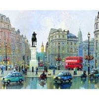 diy painting by numbers square cars kit oil picture by numbers landscape wall art acrylic paintings on canvas home decoration