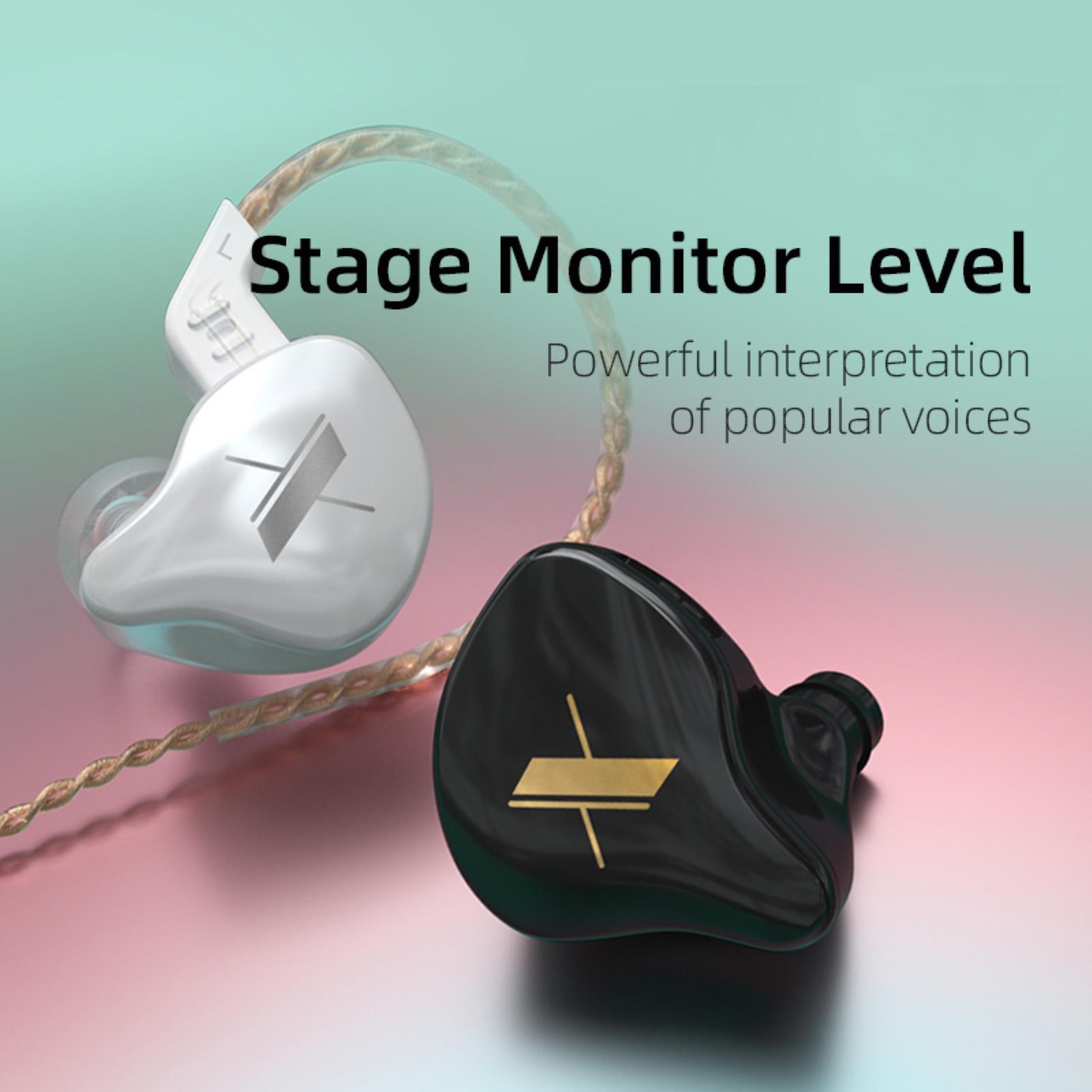 KZ EDX Earphones 1 Dynamic HIFI Bass Earbuds In Ear Monitor Headphones Sport Noise Cancelling Headset New Arrival!