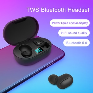 E6S TWS Bluetooth 5.0 headset stereo wireless headset HIFI sports headset with microphone gaming headset