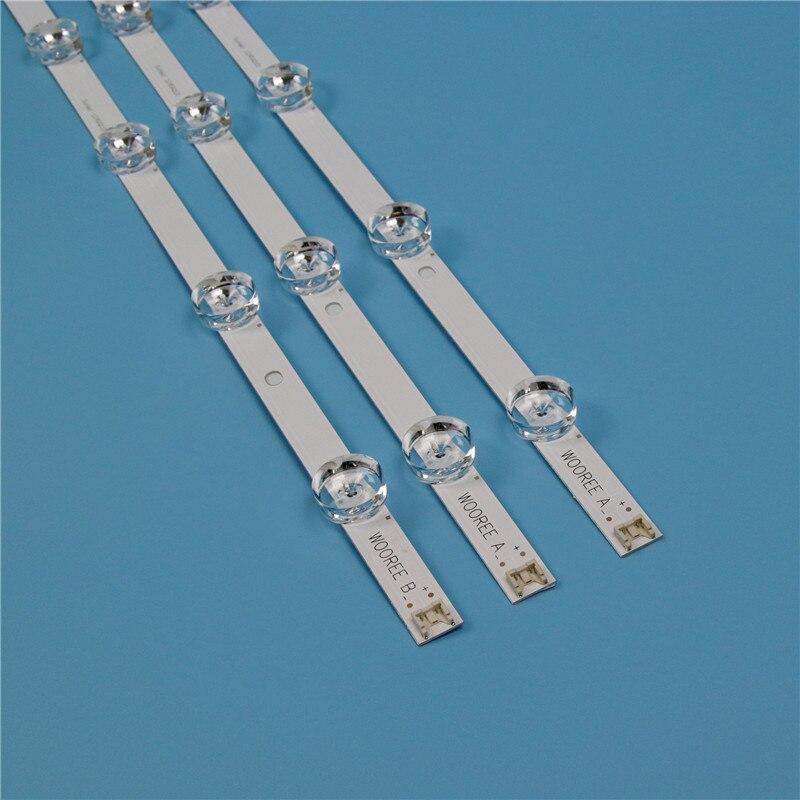 Tira de fundo tv para lg 32lb550b 32lb560b 32lb560b 32lb561b led strip kit retroiluminação barras para lg 32lb570b 32lb570b lâmpadas banda led matriz