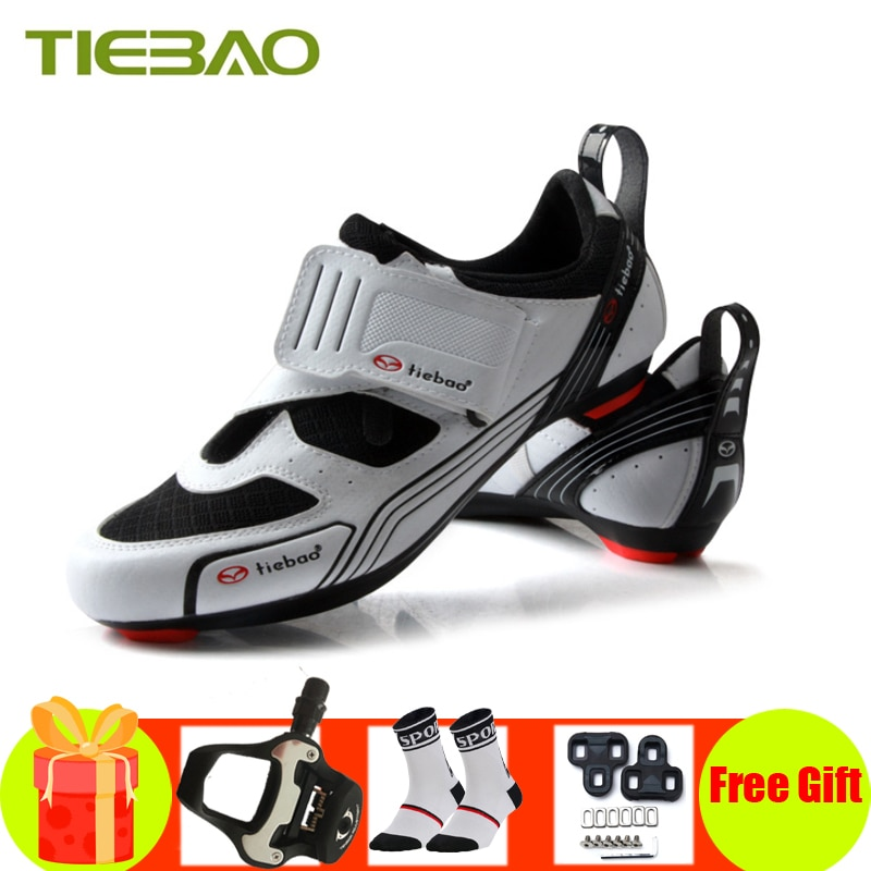 Tiebao Road Cycling Shoes Sapatilha Ciclismo Triathlon Men Women SPD-SL Pedals Self-locking Breathable Road Bike Riding Sneakers