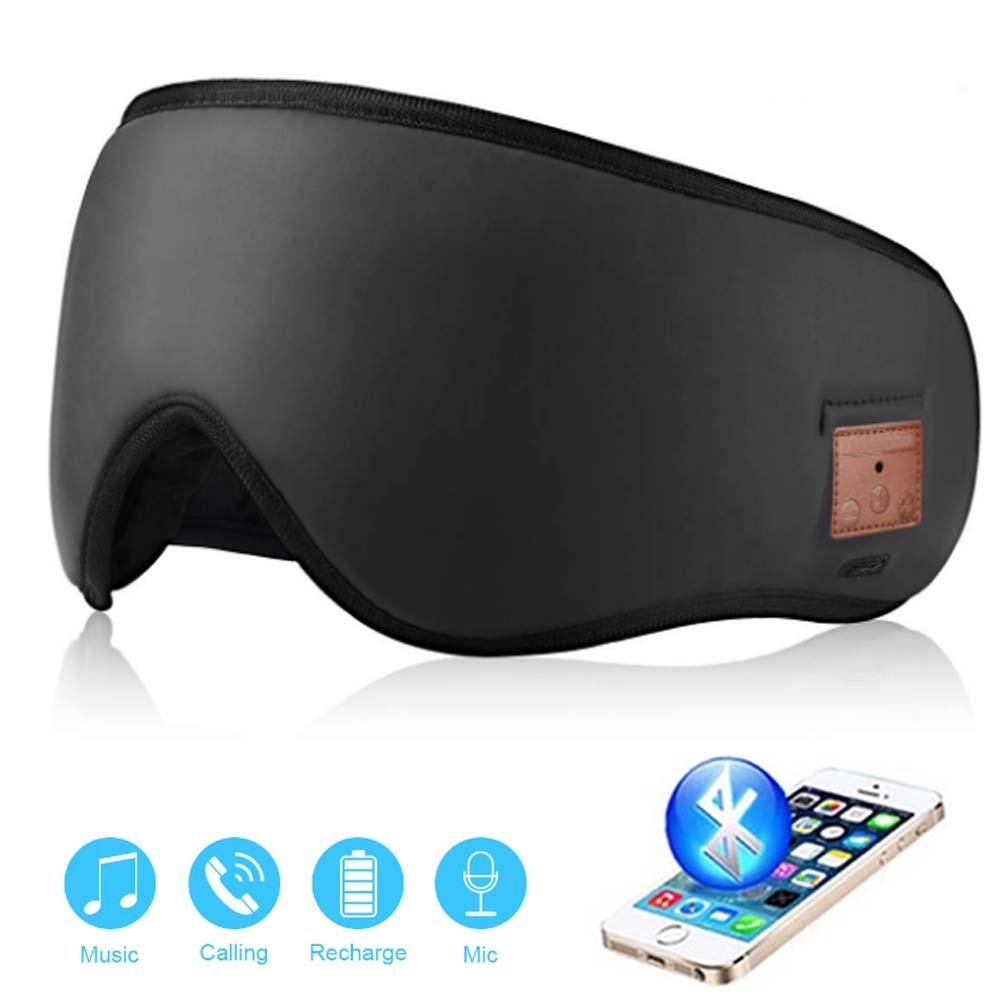 JINSERTA 3D Wireless Bluetooth Headphone Soft Sleep Eye Mask Stereo Music Headset with MIC Support Handsfree for Smartphone