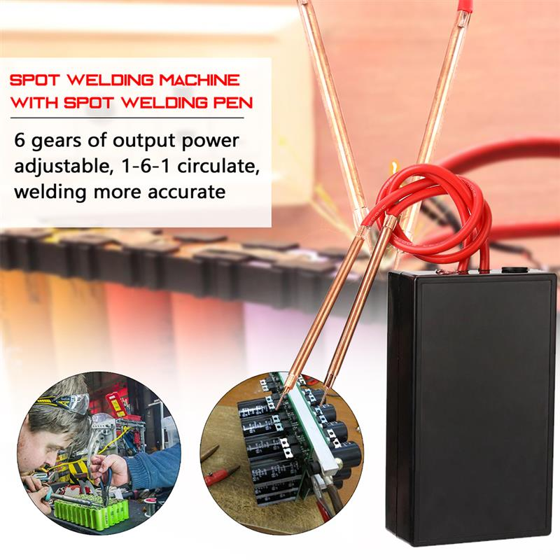 Portable Spot Welder 6 Gears Adjustable Mini Spot Welding Machine for 18650 Battery Spot Welder Spot Welding Machine Tool Kit enlarge